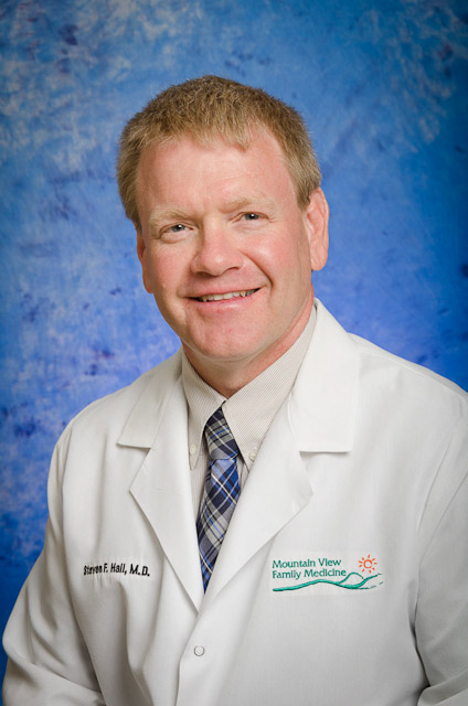 Steven F. Hall, MD of the primary care team at Mountain View Family Medicine.